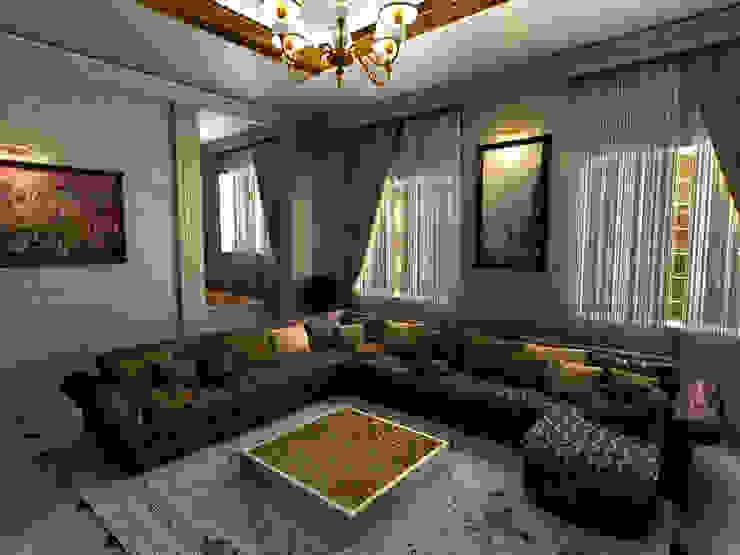 Villa Interior Design -Living Room Ruang Keluarga Gaya Eklektik Oleh m. rezan özge özdemir Eklektik
