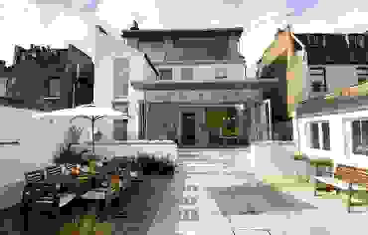 Old Dairy in Wandsworth Modern balcony, veranda & terrace by Thomas de Cruz Architects Modern