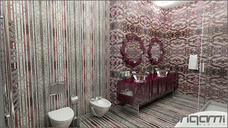 Eclectic style bathroom by Origami Mobilya Eclectic