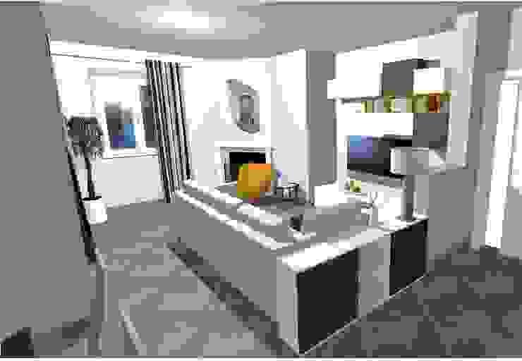 Progetto della zona soggiorno Soggiorno moderno di Indefinito Moderno