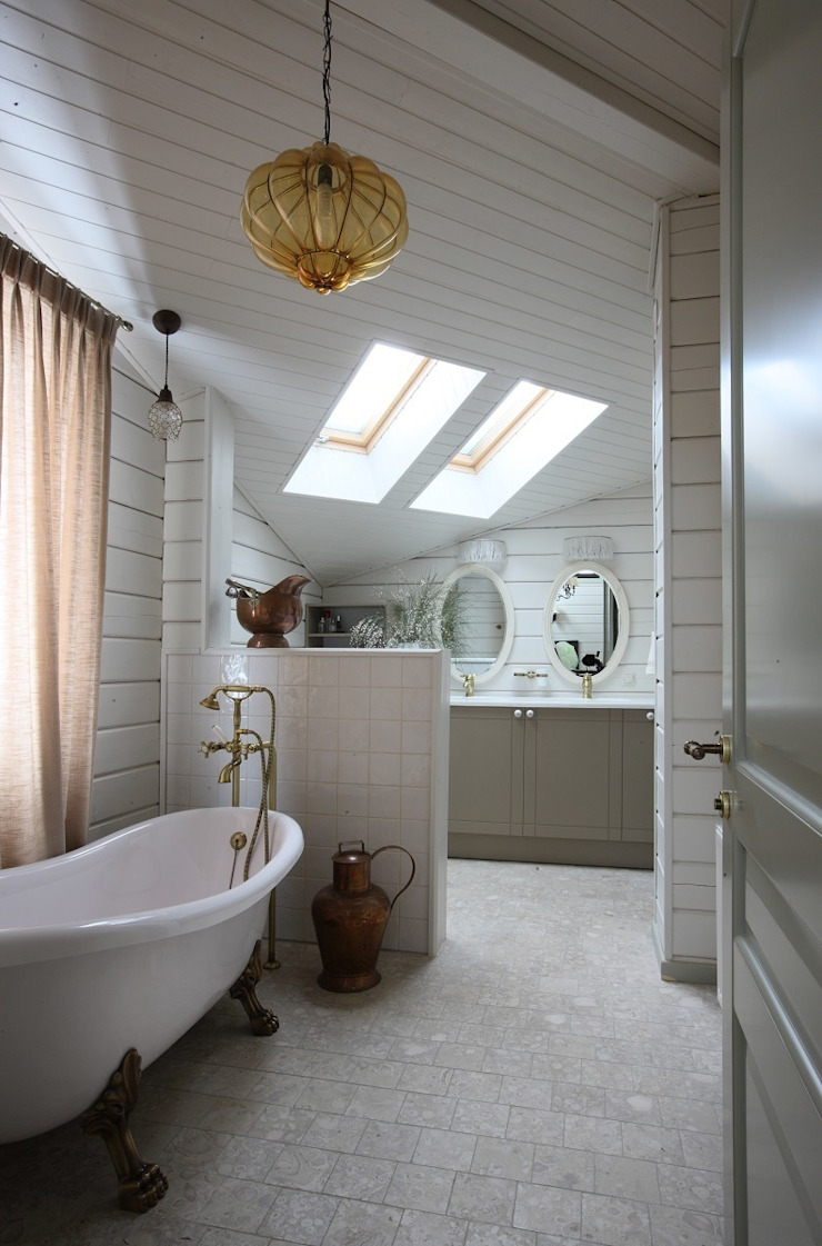 Salle de bain rurale par Atelier Interior Rural
