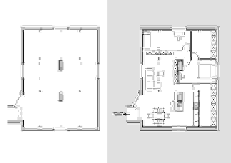 Mieszkanie na poddaszu od creo:line Pracownia Architektury Karolina Czech