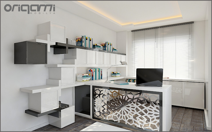 Eclectic style study/office by Origami Mobilya Eclectic