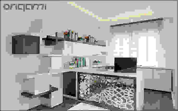 Ofis Tasarımı Origami Mobilya Eklektik Çalışma Odası