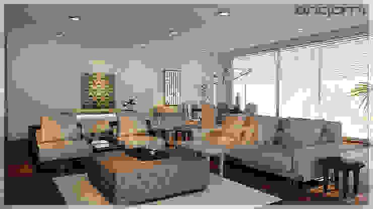 Salon Tasarımı Eklektik Oturma Odası Origami Mobilya Eklektik