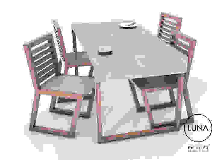 LUNA Dining Table: modern  by Phillips Design Studio, Modern