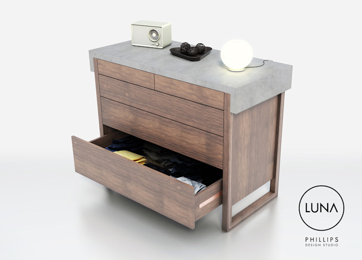 LUNA Drawers: modern  by Phillips Design Studio, Modern