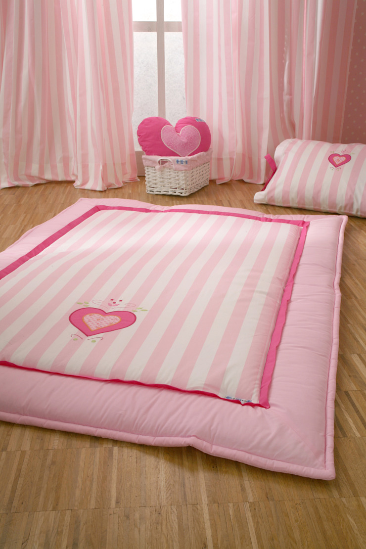 Pink Heart Baby Play Quilt : classic  by The Baby Cot Shop, Classic