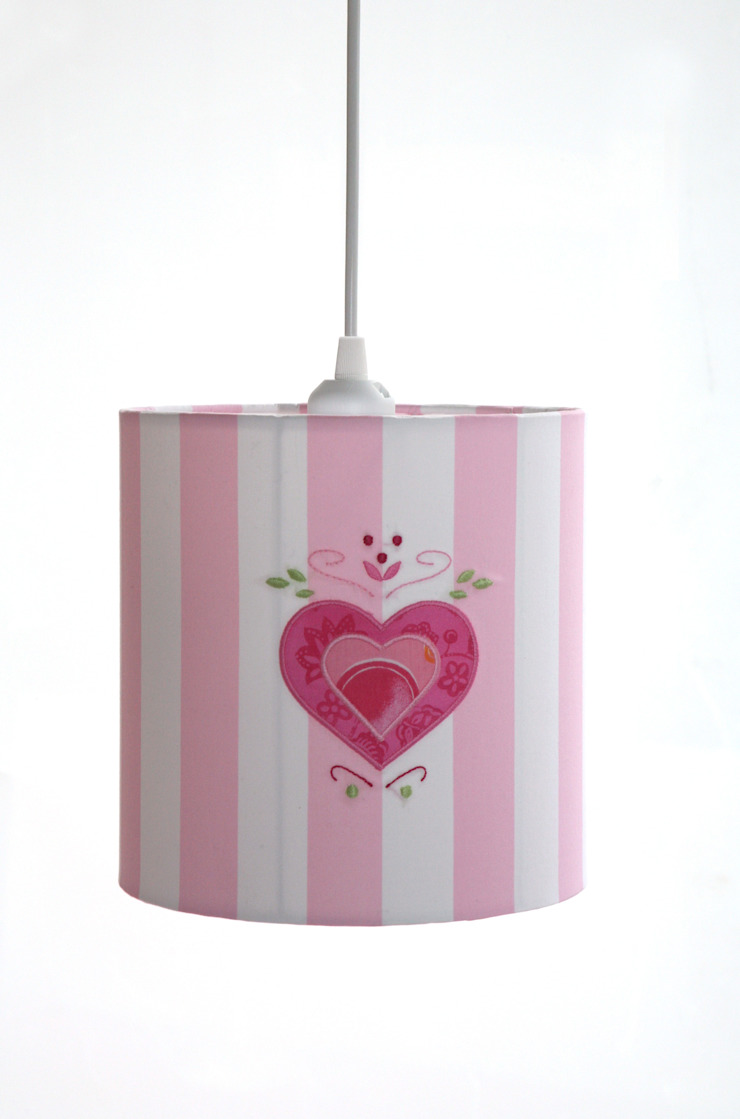 Pink Heart Ceiling Lampshade : classic  by The Baby Cot Shop, Classic