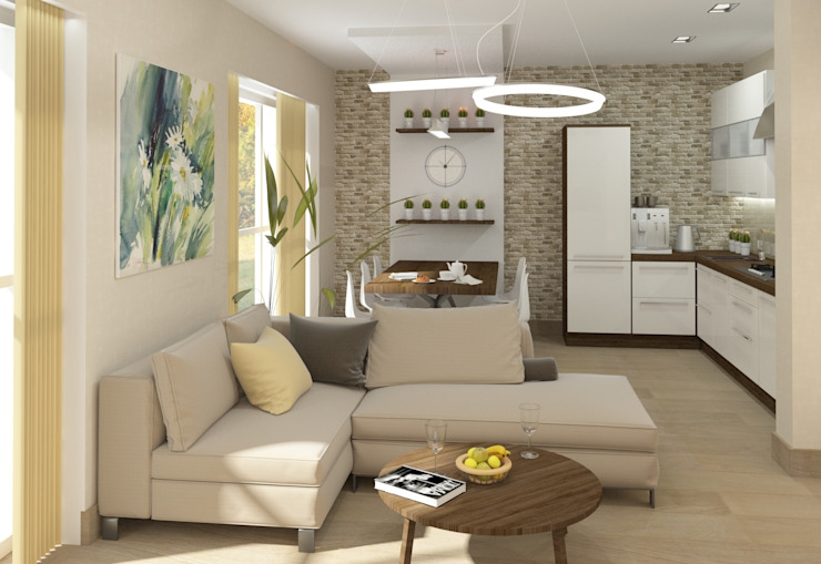 Зона столовой Столовая комната в стиле модерн от e.v.a.project architecture & design Модерн