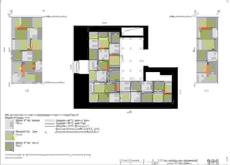 Дизайнерское панно из керамогранита:  в современный. Автор – e.v.a.project architecture & design, Модерн