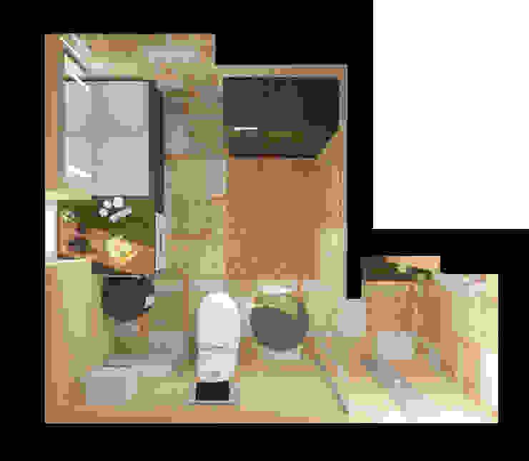 Ванная, Вид сверху Ванная комната в стиле модерн от e.v.a.project architecture & design Модерн