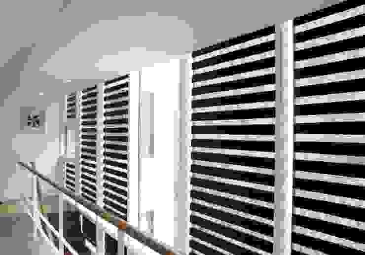 Modern ve Sade Zebra Perde Modelleri Modern Koridor, Hol & Merdivenler Armoni Perde Tasarım Modern