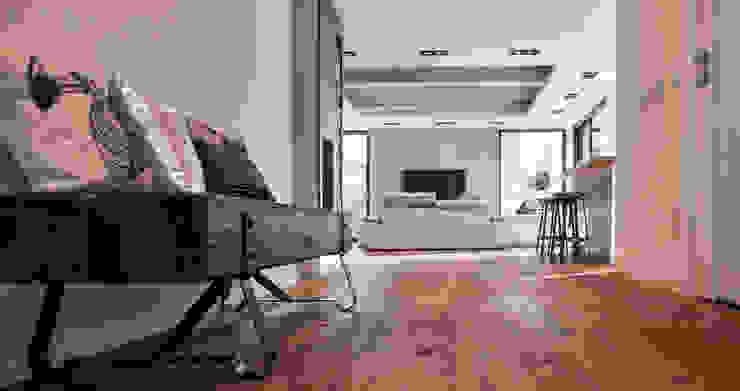 Industrial style living room by Ewa Weber - Pracownia Projektowa Industrial