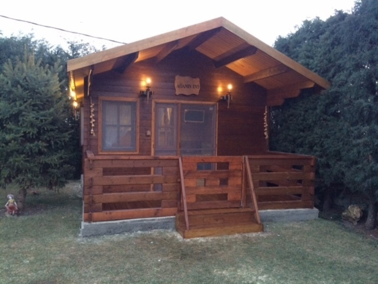 ahşap ev dış görünüm Rustik Evler Tabiat Ahşap Tasarım ve Uygulama San. Tic. Ltd. Şti Rustik