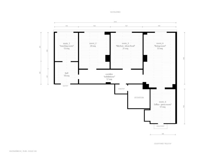 P8 apartment | Segno Italiano® showroom | Milan | layout di Segno Italiano® Mediterraneo