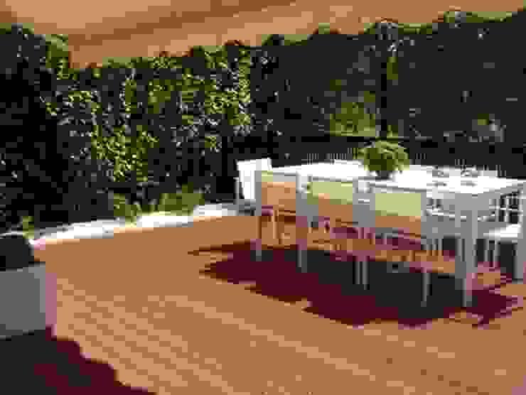 Terraza de madera sin mantenimiento Jardines de estilo moderno de Palos en Danza Moderno