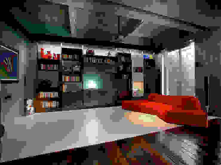 MG2 architetture - Interior - Loft Soggiorno in stile industriale di mg2 architetture Industrial