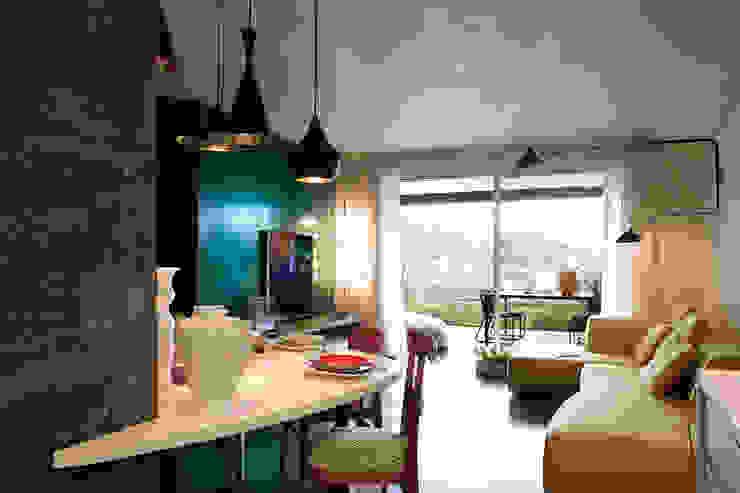 MG2 Architetture - Interior - Sliced boxes mg2 architetture Soggiorno moderno