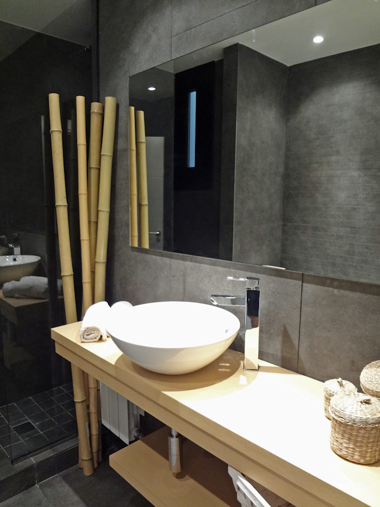 Baño Baños de estilo moderno de davidMUSER building & design Moderno