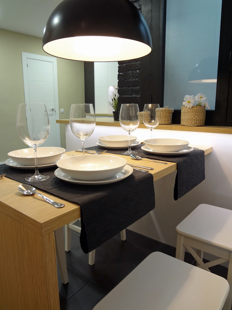 Office Cocinas de estilo moderno de davidMUSER building & design Moderno