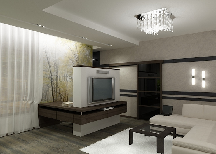 Квартира холостяка Гостиная в стиле модерн от Efimova Ekaterina Модерн
