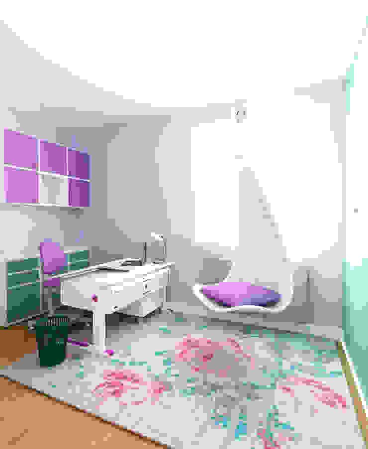 Pokój 8-latki Eklektyczny pokój dziecięcy od SPOIWO studio Eklektyczny