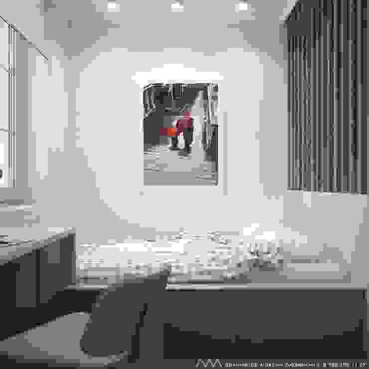квартира на Светлане Спальня в скандинавском стиле от Максим Любецкий Скандинавский