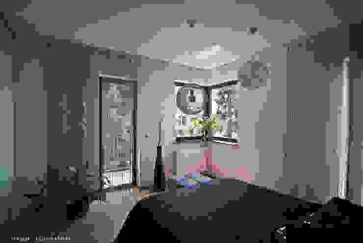 """Mieszkanie """"D"""" Minimalistyczna sypialnia od PRACOWNIA PROJEKTOWA JAGANNA Minimalistyczny"""