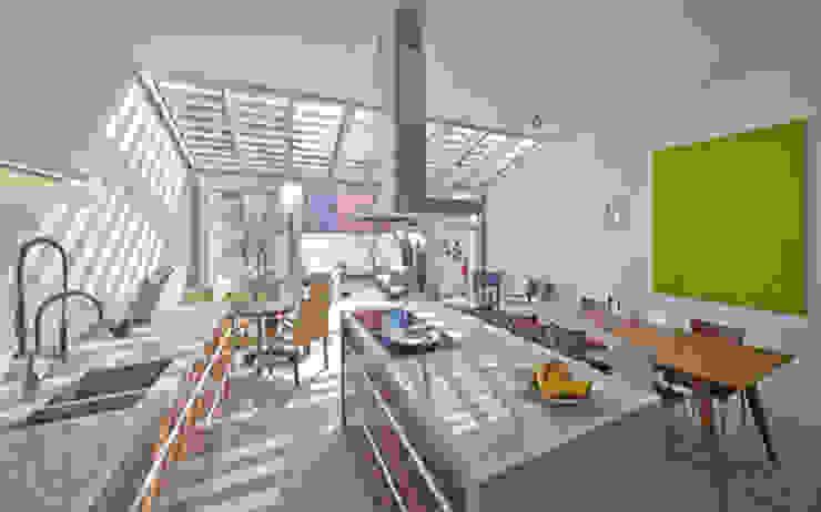 Florian Eckardt - architectinamsterdam Cucina in stile tropicale