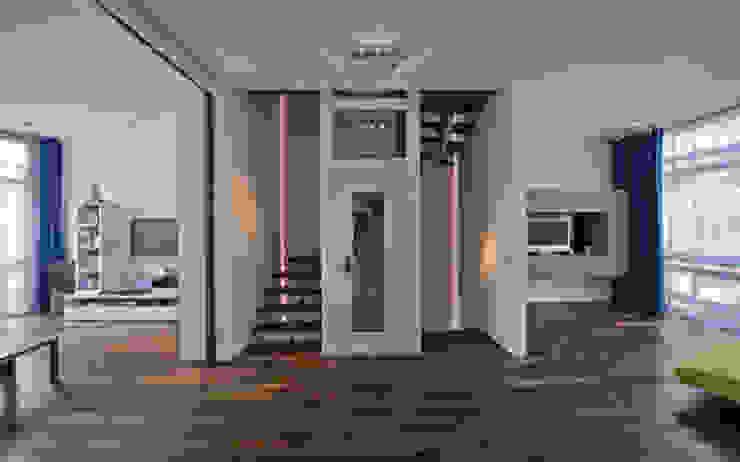 Florian Eckardt - architectinamsterdam Ingresso, Corridoio & Scale in stile tropicale