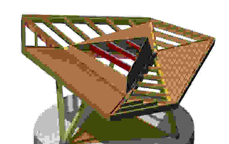 Stadshoutpaviljoen Amstelpark, constructie Moderne exhibitieruimten van Florian Eckardt - architectinamsterdam Modern