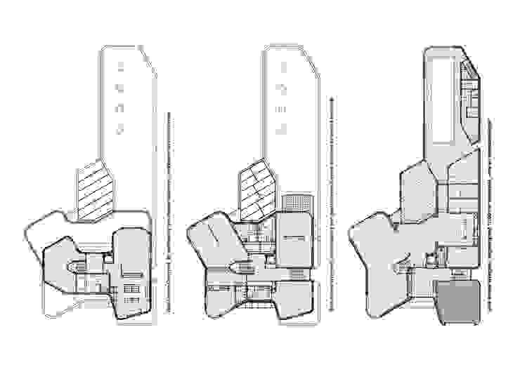 Florian Eckardt - architectinamsterdam Balcones y terrazas de estilo moderno