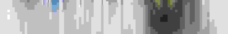 staircase, pointed curtains, Boston MA van Workingbert Minimalistisch