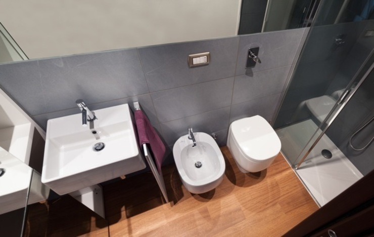 gk architetti  (Carlo Andrea Gorelli+Keiko Kondo)의  욕실, 모던