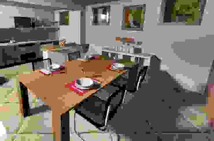 Kamaleontika Rustic style dining room