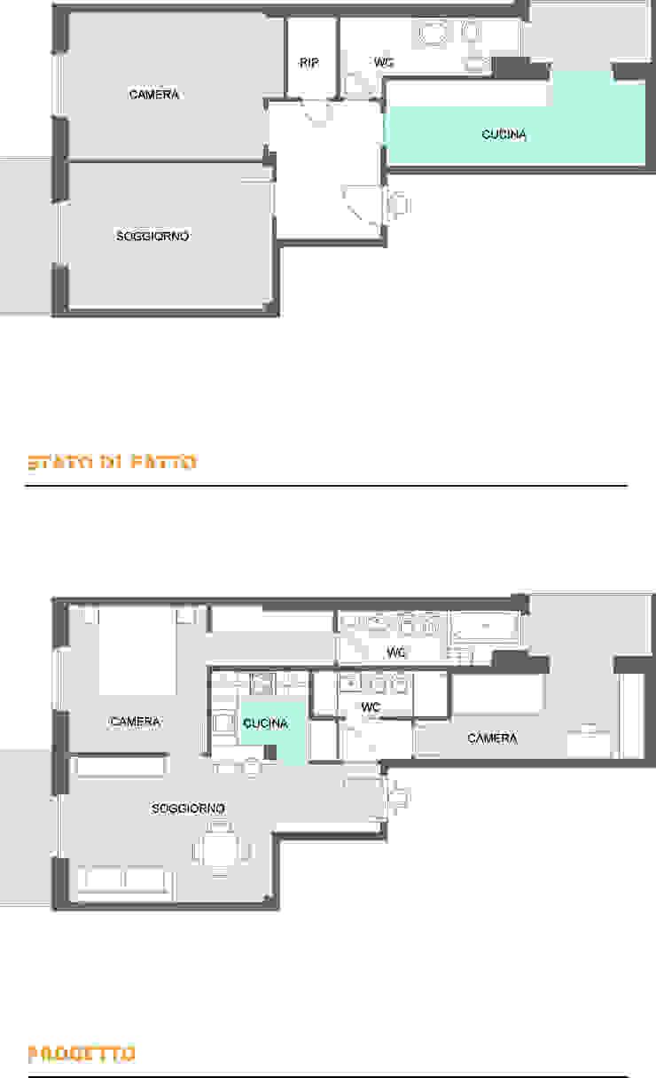 Pianta stato di fatto e progetto di gk architetti (Carlo Andrea Gorelli+Keiko Kondo)