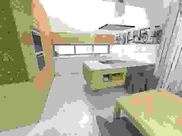 Projekt kuchni z wyspą Nowoczesna kuchnia od Orange Studio Nowoczesny