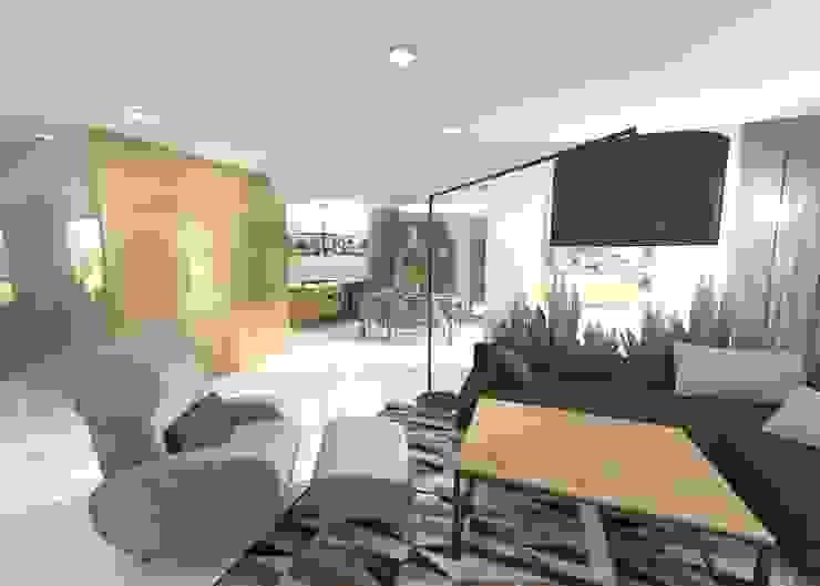 Projekt salonu Nowoczesny salon od Orange Studio Nowoczesny