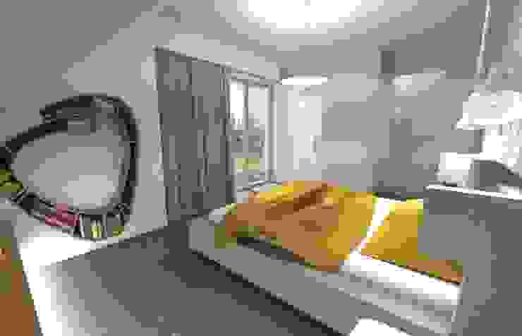 Projekt sypialni Eklektyczna sypialnia od Orange Studio Eklektyczny