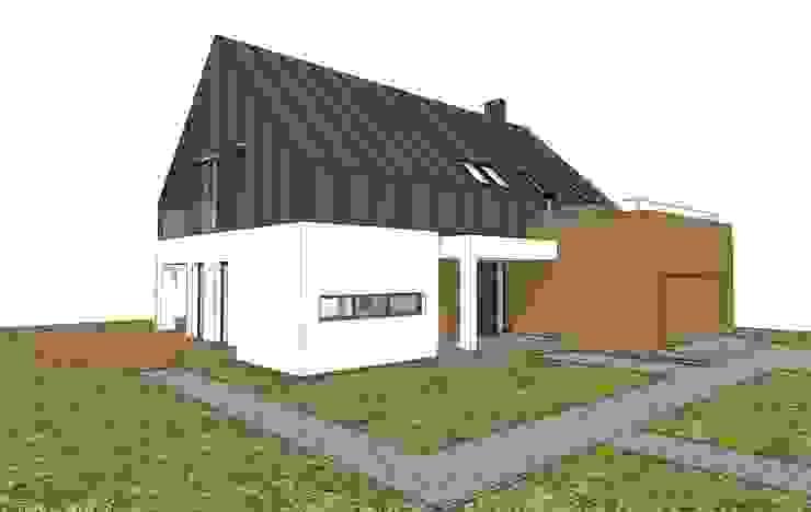 Projekt elewacji- koncepcja 1 Nowoczesne domy od Orange Studio Nowoczesny