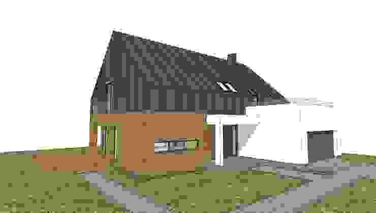 Projekt elewacji koncepcja 2 Nowoczesne domy od Orange Studio Nowoczesny