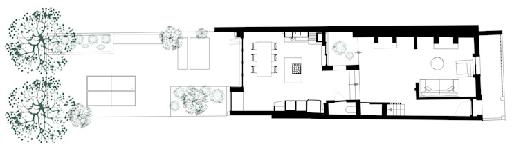Ground Floor Plan por homify
