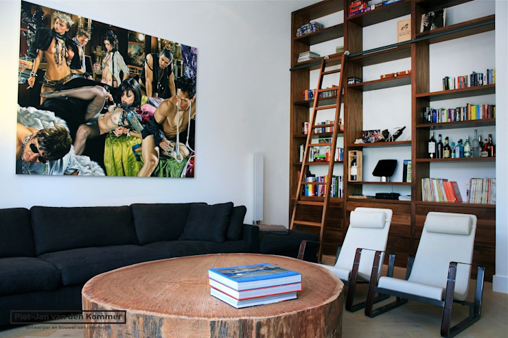 Woonkamer Loft Moderne woonkamers van Piet-Jan van den Kommer Modern