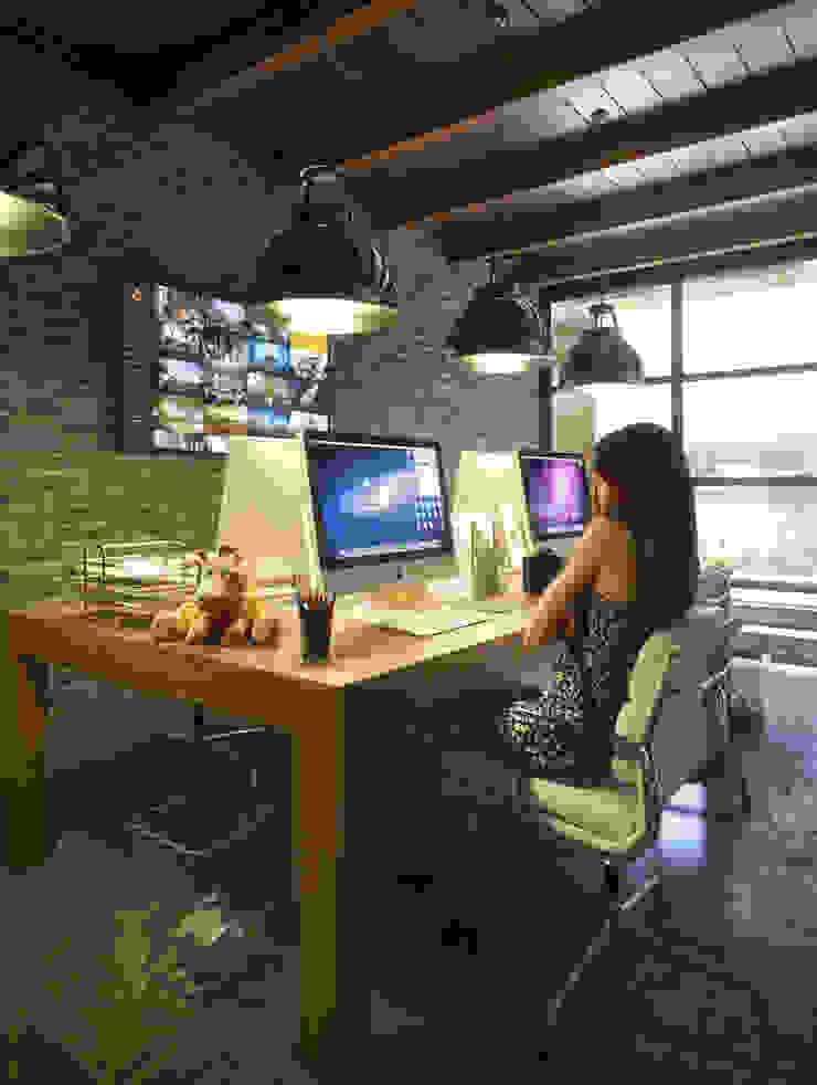 Evora Offices Modern study/office by Merêces Arch Viz Studio Modern