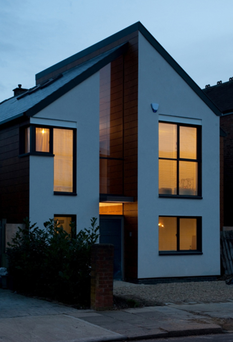 Front Elevation Modern houses by Mohsin Cooper Architects Modern