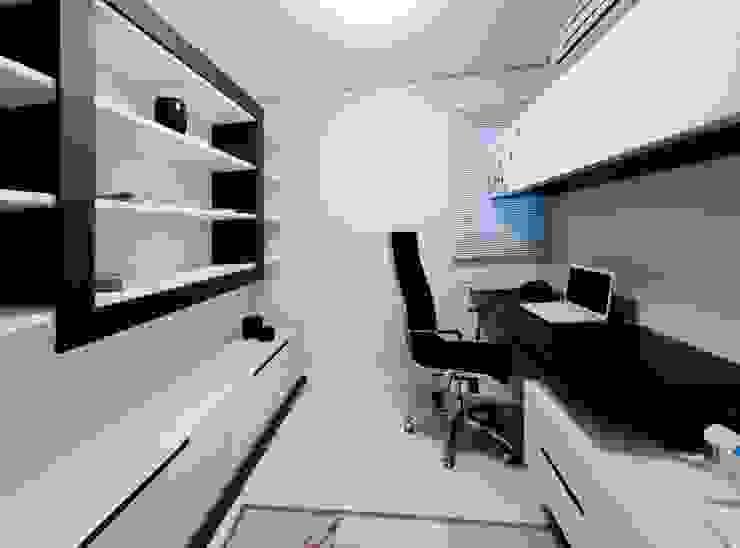 Projeto arquitetônico de interiores para residência unifamiliar. – (Fotos: Lio Simas) Escritórios ecléticos por ArchDesign STUDIO Eclético