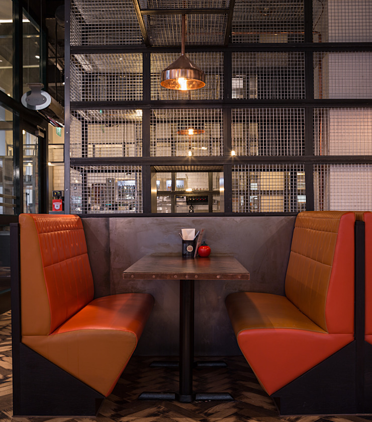 GBK Glasgow Industrial style gastronomy by Moreno Masey Industrial