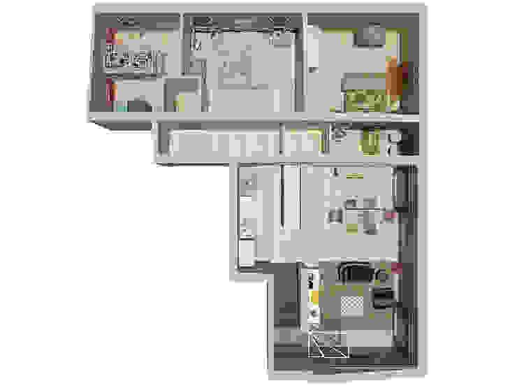 pianta appartamento Case eclettiche di riccaro fiorucci Eclettico