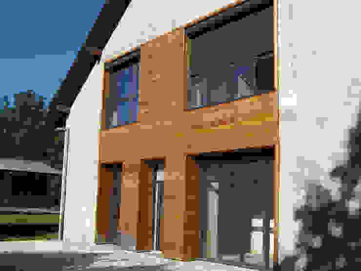 vue 2 sur jardin José villot architecte Maisons modernes